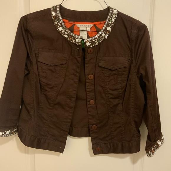 Spanner brown cropped jacket